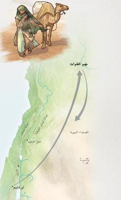 ارميا يسافر من اورشليم الى نهر الفرات ثم يعود ادراجه