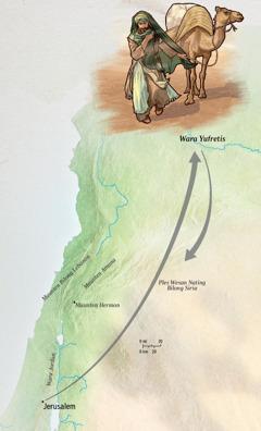 Jeremaia i wokabaut i go long wara Yufretis na i go bek gen long Jerusalem