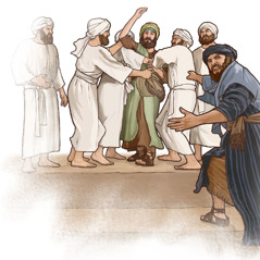 The priests, the prophets, and the people seize the prophet Jeremiah