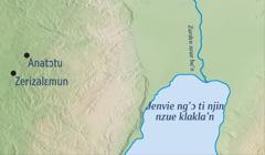 Foto kun m'ɔ kle Zerizalɛmun nin Anatɔtu klɔ'n m'ɔ ti Zeremi i awuliɛ klɔ'n.