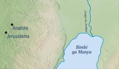 Mapa wu kombako Jerusalema ni xidoropana xa Anatote lexi Jeremia a humako ka xona