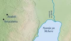 Mapu osonyeza pamene pali Yerusalemu komanso ku Anatoti, dera limene Yeremiya ankakhala