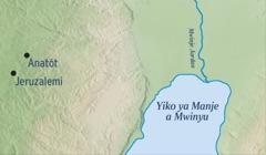 Mapa antonya elabo y'o Jerusalemi vamodha na y'o Anatót elabo yakala Jeremiya