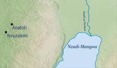 Karti ke monisa Yeruzalemi mpi Anatoti bwala ya Yeremia