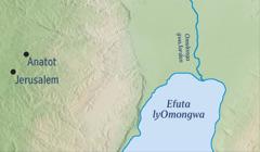 Okaalita taku ulike Jerusalem nosho wo Anatot, ondoolopa moka Jeremia a putukila