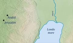 I mapa mothovi o Jerusalim hem o Anatot kuri o Jeremija bijandilo