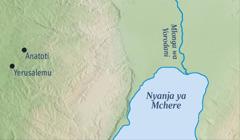 Mapu agho ghakulongora Yerusalemu na Anatoti kukwawo kwa Yeremiya