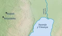 Ikarita yerekana umugi wa Anatoti aho Yeremiya yari atuye