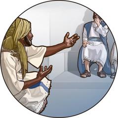 Ebed-melech yn dod o flaen Brenin Sedeceia