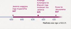 Kronograma rinotatija makore akatanga Jeremia kuporofita, Bharuki paakatanga kuva mubesero wake zve Jerusarema porakawiswa