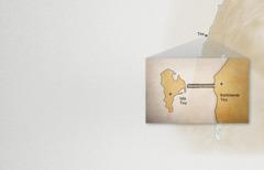 Jun mapa te banti ya yak' ta ilel te kontinente Tiro sok te isla Tiro
