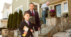 A father and son work together in the ministry