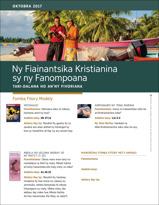Ny Fiainantsika Kristianina sy ny Fanompoana: Tari-dalana ho An'ny Fivoriana, Oktobra 2017