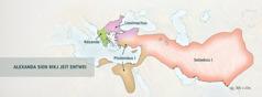 Daut griechische Rikj es mank vea von Alexanda siene Häafiera enjedeelt