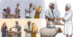 Izraelito sąžiningumas versle ir elgesys su savo žmona turėjo įtakos, ar jo atnašaujama gyvulio auka bus priimta