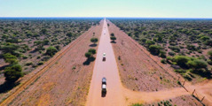 Vehicles travel to unassigned territory in Namibia