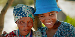 A sister in Namibia with an older woman