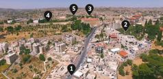 Rute yang mungkin Yesus gunakan dari Betani ke Yerusalem