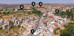 Pot, po kateri je verjetno hodil Jezus, ko je šel iz Betanije v Jeruzalem.