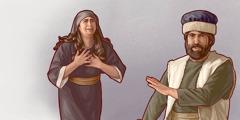 Ein ísraelsmaður rýmir frá konuni