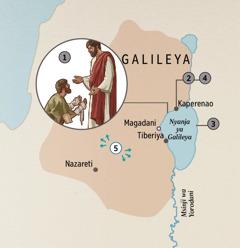 Matawuni nga ku Galileya ngo Yesu wanguchizgaku akutama