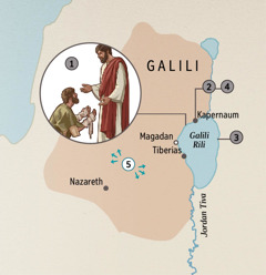 Cities in Galilee where Jesus healed people