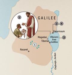 Ovihuro vya Galilea Jesus ma verukisa ovandu