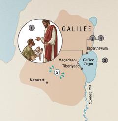 Galilee tɛtʋ ndʋ tɩ-taa Yesu wa ɛyaa kʋdɔmɩŋ yɔ