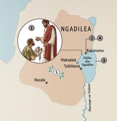Bibundi bya Ngadilea mwine mwāundapilwe bantu na Yesu