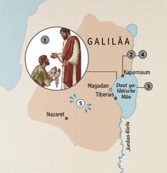 De Staut en Galiläa, wua Jesus de Menschen heeld