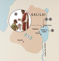 Amatawuni gha ku Galilai kuno Yesu abumbulwisye ababine