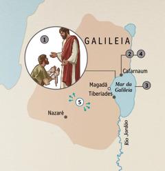 Cidades na Galileia onde Jesus curou pessoas