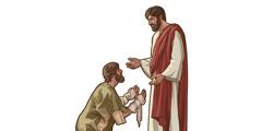 Jesús curant un leprós