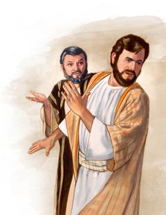 Jesus sajcht to Petrus, hee saul hinja am gonen