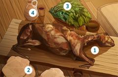 Pashalno janje, beskvasni kruh, gorko bilje i vino