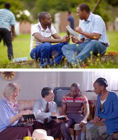 Samueli i ofron një revistë Ezekielit; Solomoni me Marinë i predikojnë Ezekielit dhe Abigailës
