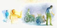 Um cego começa a enxergar; um aleijado fica em pé e deixa para trás a cadeira de rodas