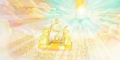 Yesus duduk di takhtanya di surga