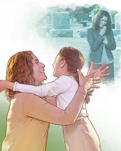 ایک ماں اپنی بیٹی کی قبر کے پاس افسردہ کھڑی ہے اور اُس وقت کے بارے میں سوچ رہی ہے جب اُس کی بیٹی زندہ ہو جائے گی۔