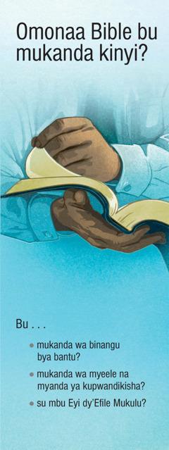 Omonaa Bible bu mukanda kinyi?