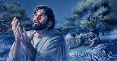 Medtem ko Jezus moli, apostoli spijo.