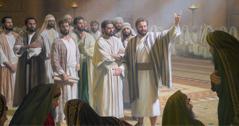 Si Petrus dohot si Johannes di adopan ni Sanhedrin
