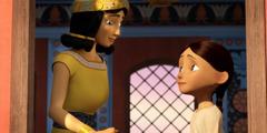 Una nena israelita parlant amb la dona de Naaman