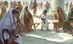 Yésus sing umuré 12 taun lagi ing bait karo guru-guru agama