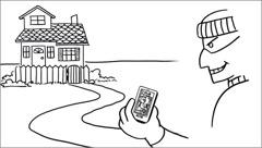 Un lladre amb accés ales xarxes socials sap que l'amo de casa està de vacacions