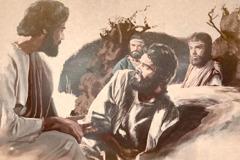Jesus es leeftolich to siene Apostel, wan dee uk wieren enjeschlopen