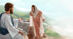 Jezu ɖò xó ɖɔ nú Nyɔnu Samalíinu ɖé wɛ ɖò sɛ́tɔ̀ ɖé nu
