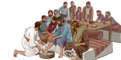 Caguiibi' Jesús ñee ca apóstol sti'