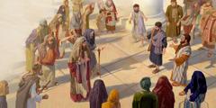 Petar i Ivan hrabro se obraćaju svećeničkim glavarima i drugim ljudima