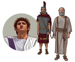 Caesar, a Roman soldier, and Paul
